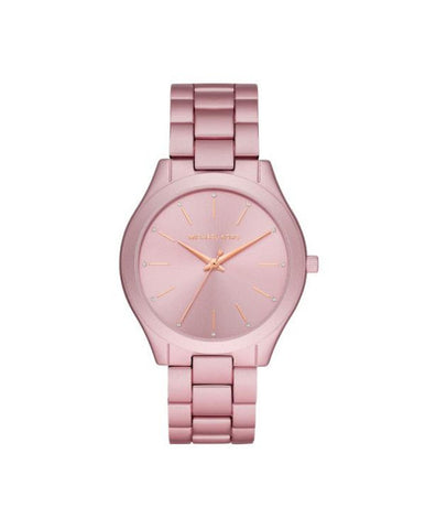 Michael Kors - Slim Runway Three-Hand Pink Aluminum Watch