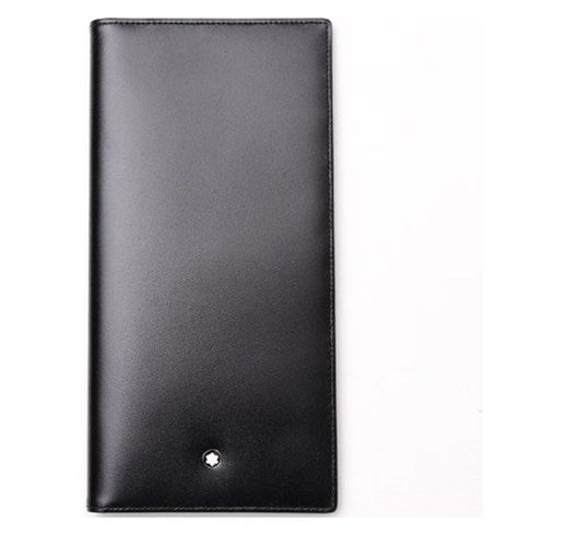 Mont Blanc - Leather Long Wallet - Black