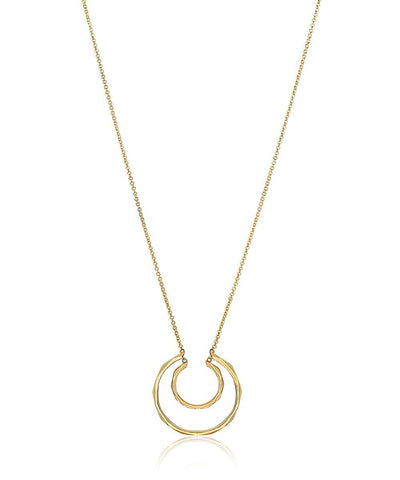 Edge of Ember Facet Duo Gold Necklace