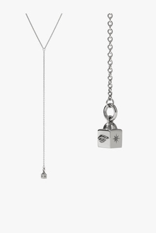 Meadowlark - Lumiere Lariat Necklace - Silver