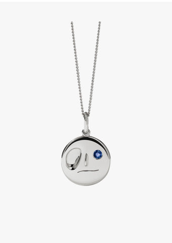 Meadowlark - Miro Necklace - Silver - Blue Sapphire