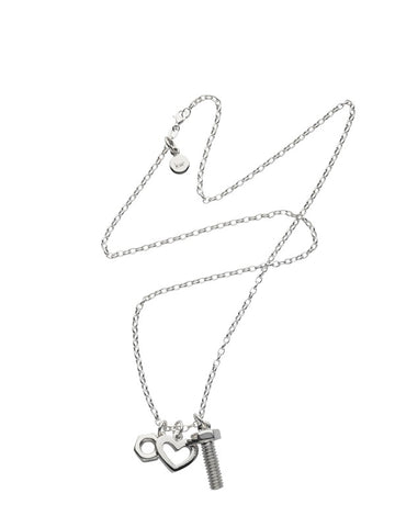 Karen Walker Nut, Bolt & Heart Pendant