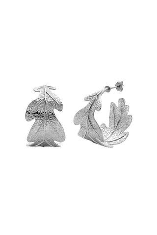 Karen Walker Oak Leaf Earrings - Sterling Silver
