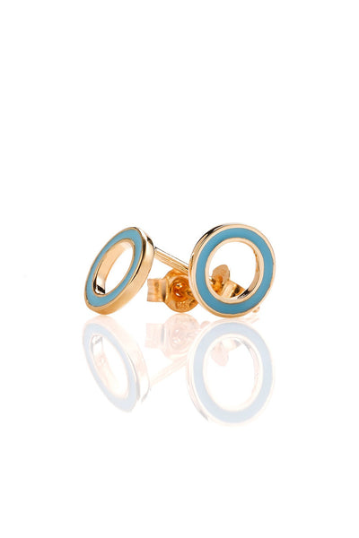 KAREN WALKER ORBIT ENAMEL STUDS ROSE GOLD