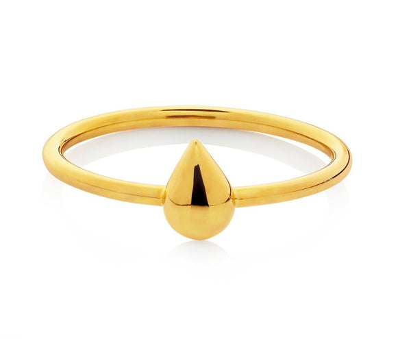 Boh Runga Droplet Ring - 9ct Yellow Gold, Size K