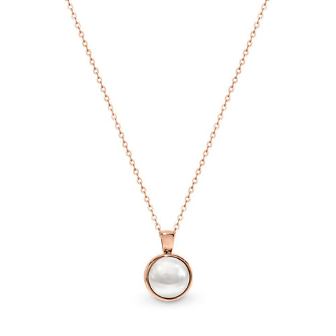 LUCCA ROSE GOLD PEARL PENDANT