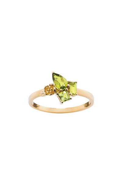 ROCK GARDEN MINI RING GOLD & PERIDOT