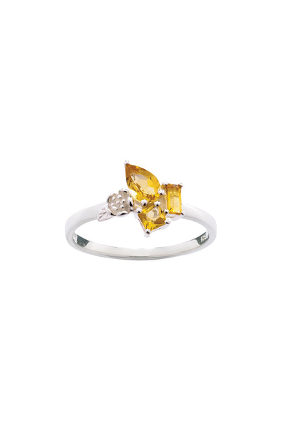 ROCK GARDEN MINI RING SILVER & CITRINE