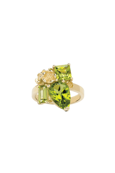 Karen Walker Rock Garden Ring - 9ct Gold, Peridot
