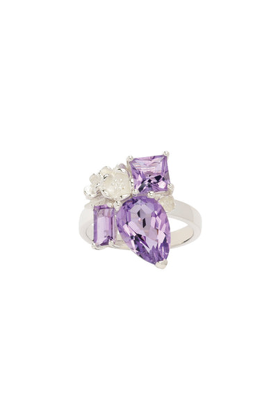 Karen Walker Rock Garden Ring - Silver, Amethyst