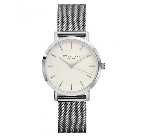Rosefield 'The Tribeca' White Dial Silver Watch - TWS-T52