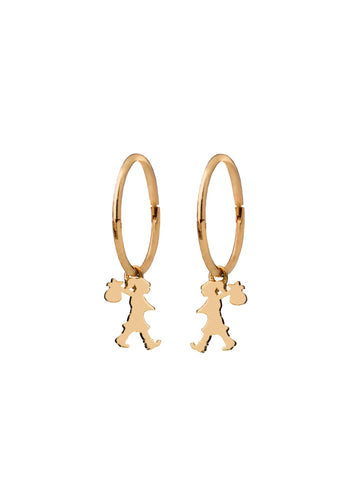 Karen Walker Runaway Girl Sleepers- Yellow Gold