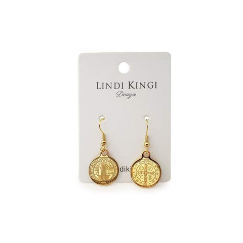 Lindi Kingi Saint Earrings - Gold Plate