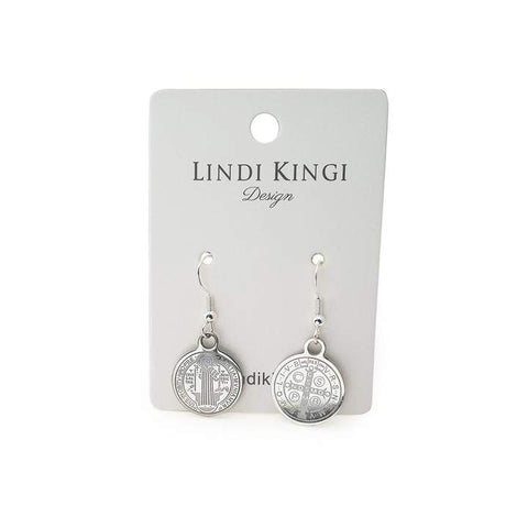 Lindi Kingi Saint Earrings - Silver Plate