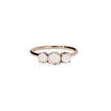 Meadowlark Signature 3 Stone Ring - 9ct Rose Gold & Morganite