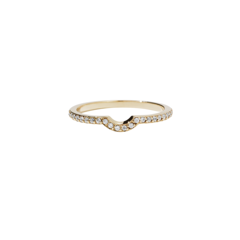 Meadowlark Signature Eternity Ring - 9ct Yellow Gold & White Diamond