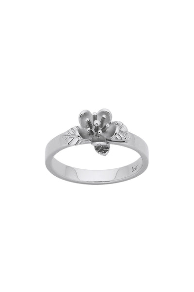 Karen Walker Botanical Flower Ring - Silver
