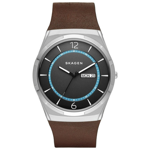 Skagen Melbye Titanium & Leather Watch SKW6305