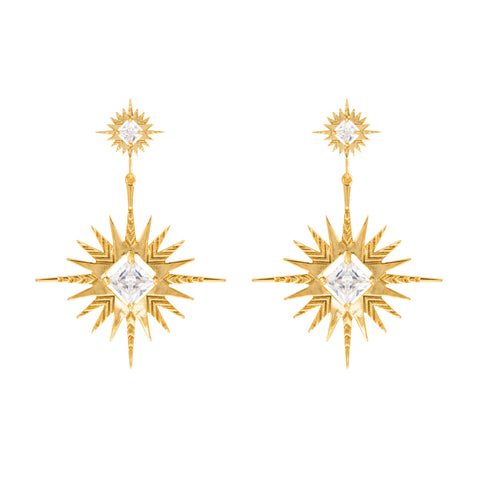 Lindi Kingi - Solar Earrings - Gold Plated
