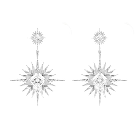 Lindi Kingi - Solar Earrings - Silver plated