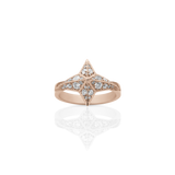 MEADOWLARK STAR RING - PAVE 9CT ROSE GOLD & WHITE DIAMOND