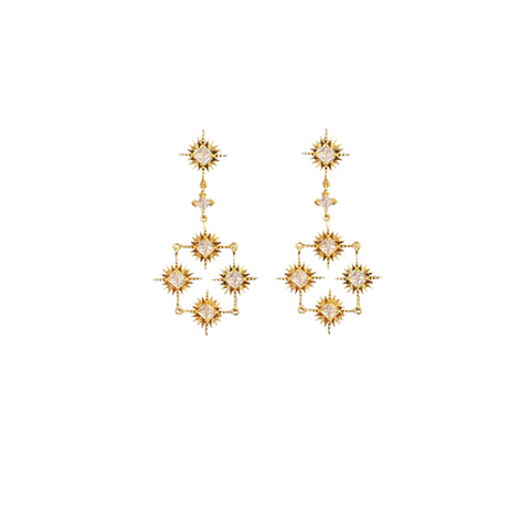 LINDI KINGI x Kelly Starburst Collective Earrings | Gold