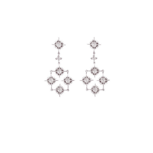 LINDI KINGI x Kelly Starburst Collective Earrings | Silver
