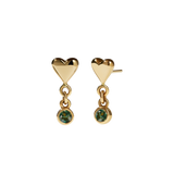 Meadowlark - Camille Stone Stud Earrings - Gold Plated - Green Sapphire
