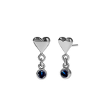 Meadowlark - Camille Stone Stud Earrings - Silver - Blue Sapphire