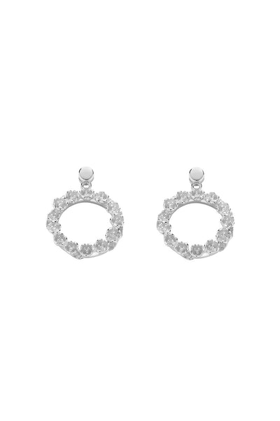 Karen Walker League Earrings - Silver