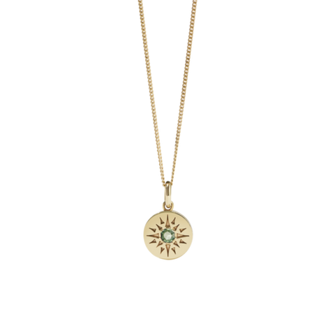 Meadowlark Ursa Necklace Medium - Gold Plated - Green Sapphire