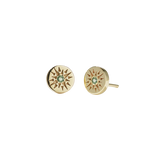 Meadowlark Ursa Studs Stone Set - Gold Plated - Green Sapphire