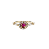 Meadowlark - Venus Ring Petite - 9ct Yellow Gold - African Ruby - White Diamond