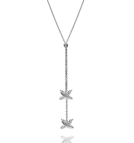 Feather Kisses Double Pendant