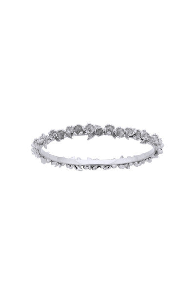 Karen Walker Botanical Wreath Bangle - Silver, 60mm