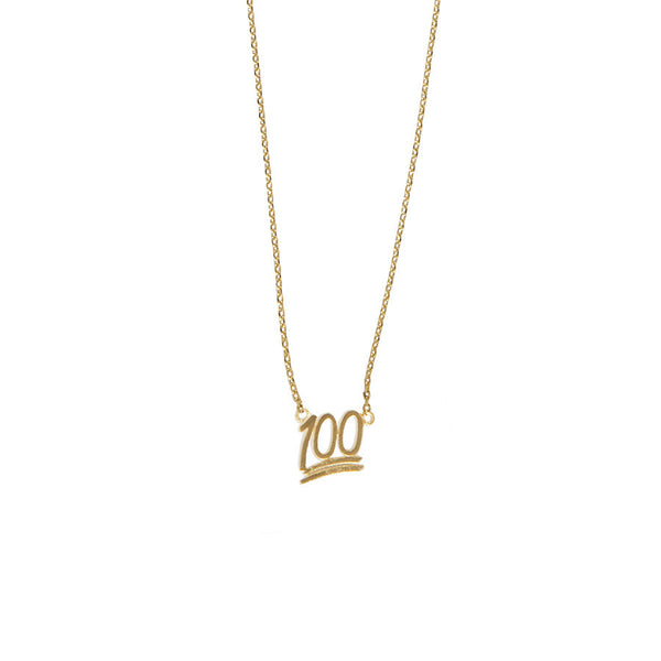 100% EMOJI GOLD NECKLACE