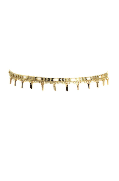 STANDING OUT CHOKER SET IN GOLD