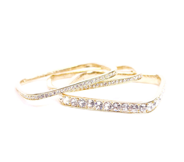Sparkle Square Bangle Set