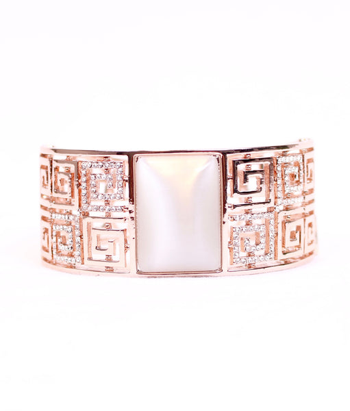 Exaggerate Patterned Opal Bangle