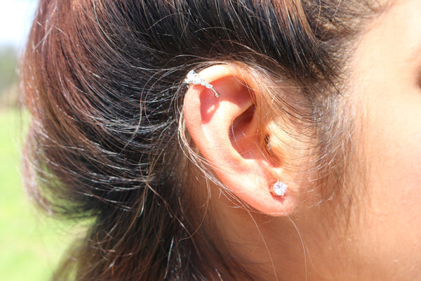 Gold Crown Ear Cuff