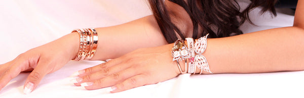 Crystal Swarovski Owl Bangle