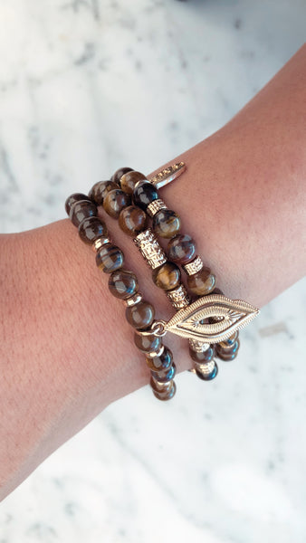 Tigers Eye Triple Bracelet