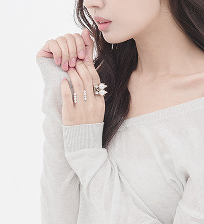 Shinning star Cocktail Ring