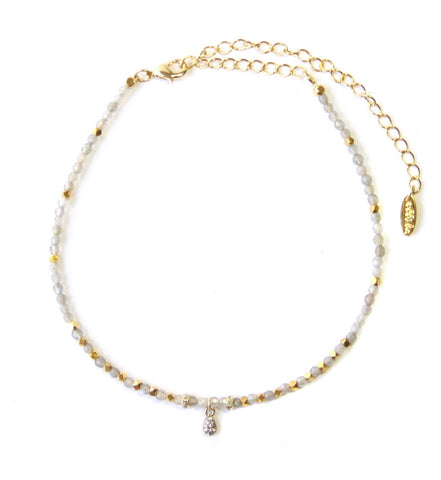 LABORITE AND GOLD CHOKER