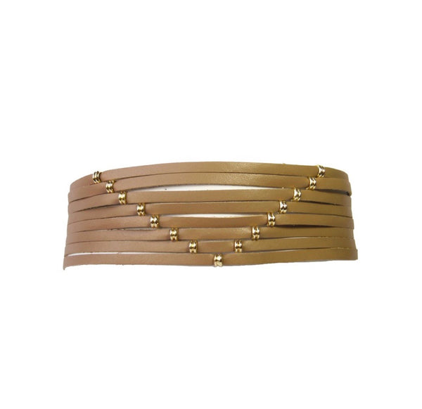 Gold and Tan Choker