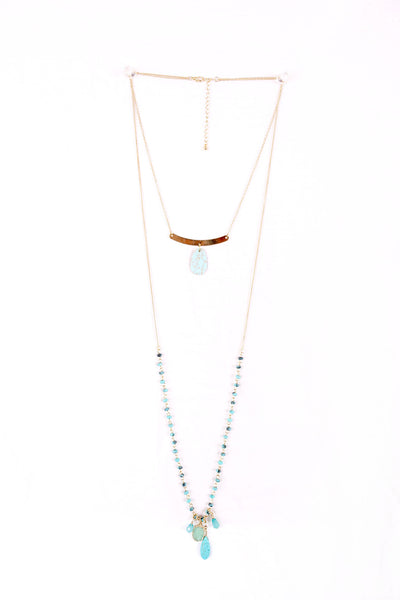 Double Layered Turqouise Necklace