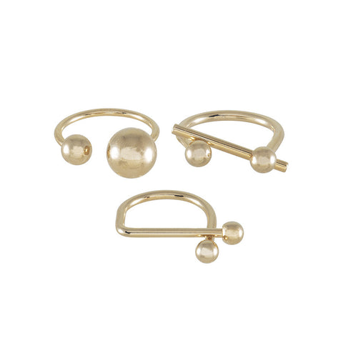 Spherical Gold Rings