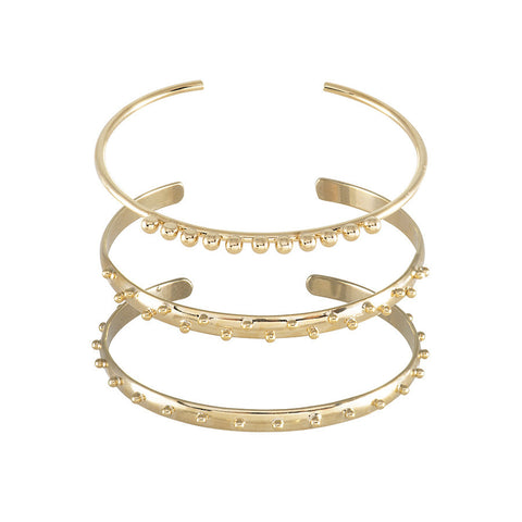 Spherical Gold Cuff Set
