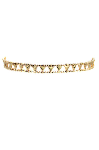 WORLD CITIZEN CHOKER IN GOLD