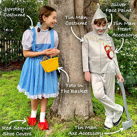Dorothy and Tin Man Wizard of Oz costume